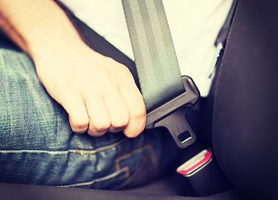 Driver using seatbelt   Click It or Ticket
