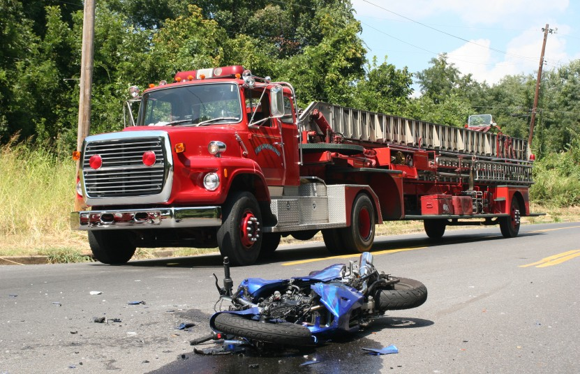 traffic accident involving motorcycle and truck | six million traffic accidents occur in the u.s. every year