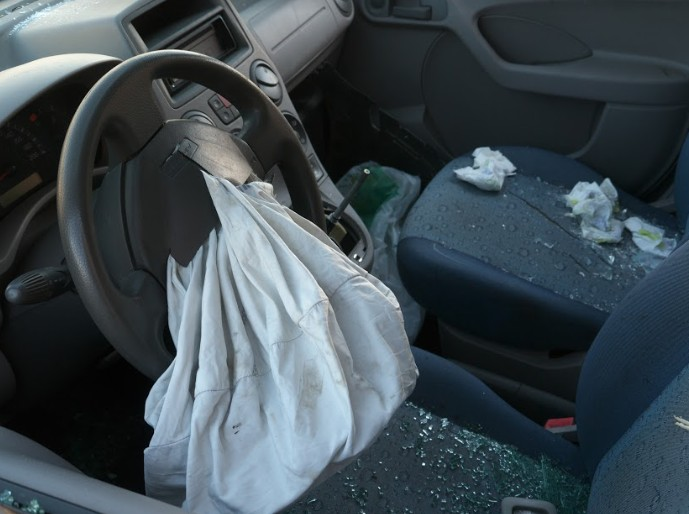 airbag in the driver's seat following a car accident | double fatal accident in weld county