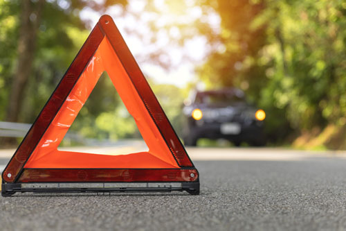 yield sign on the road