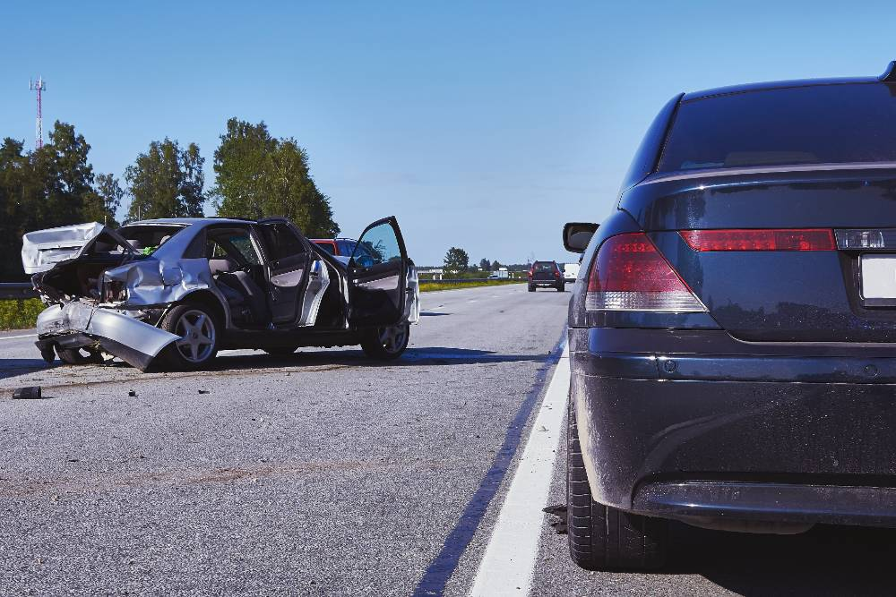 vehicular accident on a highway involving two cars | three-vehicle accident on i-25 in colorado springs