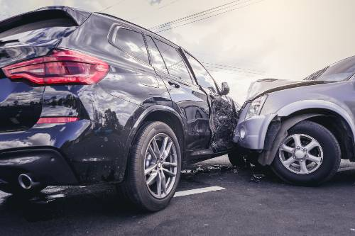 a car crashed into an SUV in a road accident | Crash on Highway 82 on December 30th