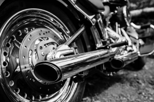 black and white photo of a motorcycle | fatal motorcycle accident in aurora