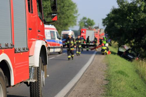firetrucks, firefighters and ambulance on the road | fatal three vehicle accident near peyton