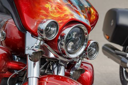 Red Harley Davidson motorcycle | fatal motorcycle accident in summit county